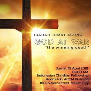 """Ibadah Jumat Agung """"GOD at War"""" @ Room 403, ACCM Building"""