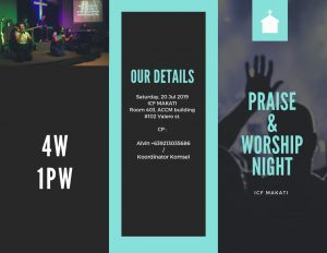 Praise & Worship Night @ ICF Makati, room 403